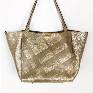Burberry Canterbury Metallic Check-Embossed Tote